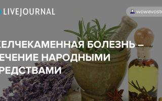 Желчнокаменная болезнь лечение народными средствами / народные рецепты