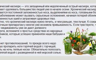 Насморк лечение народными средствами / народная медицина