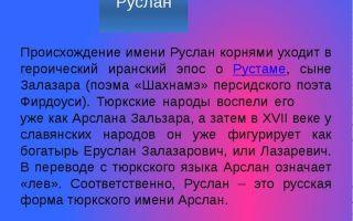 Что означает имя руслан – характеристика имени руслан, толкование имени руслан