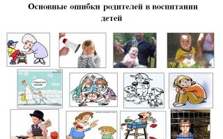 Главные ошибки  родителей в воспитании ребенка