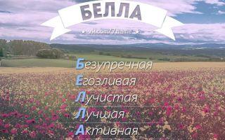 Что означает имя белла – характеристика имени белла, толкование имени белла
