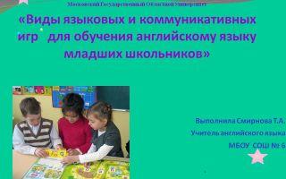Игры для обучения иностранному языку — лингвистические игры