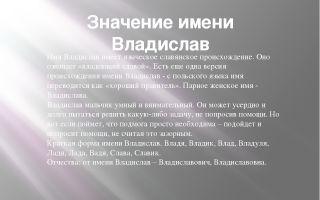 Что означает имя владислав – характеристика имени владислав, толкование имени владислав