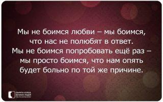 Страх любви и отношений / боязнь любви